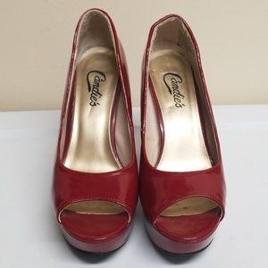 Red chucky heel